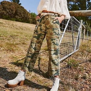 NWT Free People Remy Camo Pant